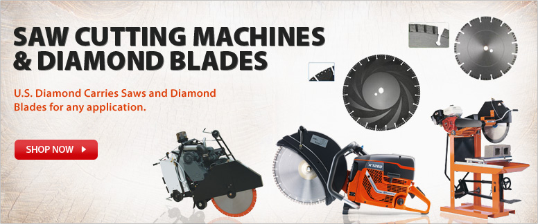 U.S. Diamond Carries Saws and Diamond Blades for any application.